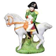 "Vintage Miniature 2.5"" Napoleon Horse Figurine German Porcelain Scheibe Alsbach"