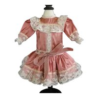 "Pink silk dress for 16.5"" doll"