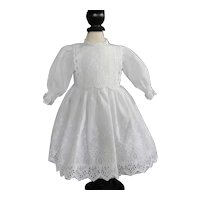 """White cotton dress for 16.5"""" doll"""