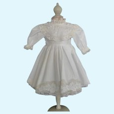 """White cotton dress for 17.5"""" doll"""