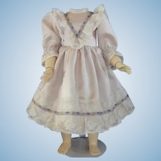"""Pink silk dress for 19"""" doll"""