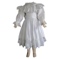 """Cotton dress for 27"""" doll"""