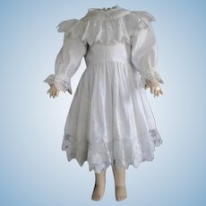 "Cotton dress for 27"" doll"