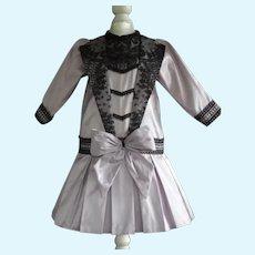 """Purple silk dress 27"""" doll"""