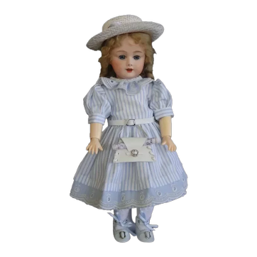 """Bleuette SFBJ 301 reproduction - 11"""" doll with blue eyes."""