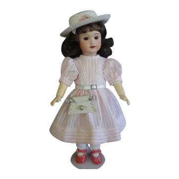 """Bleuette UNIS 301 reproduction - 11"""" doll with hazel eyes."""