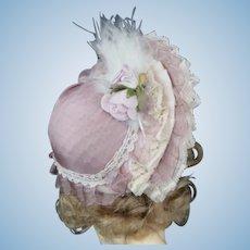 "Hat for 8"" (18 cm) HC dolls - Pink"