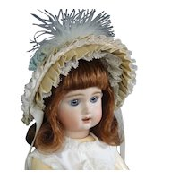 """Hat for 8"""" (18 cm) HC dolls - Beige and Blue"""