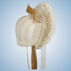 "Beige Hat for dolls size 5/7 - 9.85"" - 11.30"" HC"