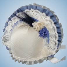 "Blue Hat for dolls size 5/7 - 9.85"" - 11.30"" HC"