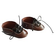 Leather shoes for doll - 2 colors