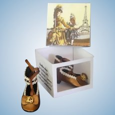 Leather shoes for Fashion dolls - ONE OF A KIND