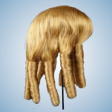 "Ringlet Human hair wig HC 16"" for Antique or Vintage German or French doll."