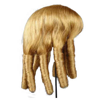 """Ringlet Human hair wig HC 16"""" for Antique or Vintage German or French doll."""