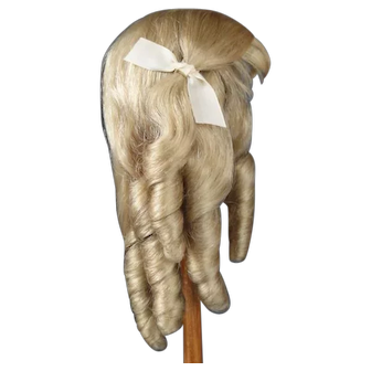 """Human hair wig HC 11.2"""" for Antique or Vintage German or French doll."""