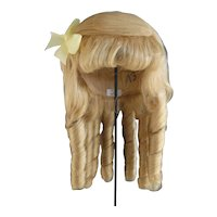 """HC 16"""" Human hair wig for Antique or Vintage German or French doll. PC101"""