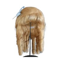 """HC 18.3"""" Human hair wig for Antique or Vintage German or French doll. PC102"""
