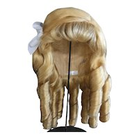 """HC 19.5"""" Human hair wig for Antique or Vintage German or French doll. PC103"""