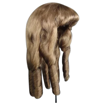 """Human hair wig HC 16"""" for Antique or Vintage German or French doll."""