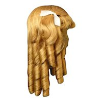 """HC 15"""" Human hair wig for Antique or Vintage German or French doll. PC113"""