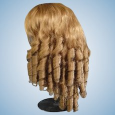 "HC 18.3"" Human hair wig for Antique or Vintage German or French doll."