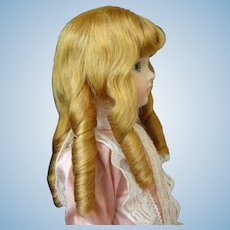 "HC 13"" Human hair wig for Antique or Vintage German or French doll."