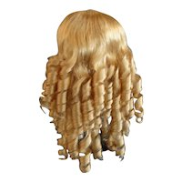 """HC 18.3"""" Human hair wig for Antique or Vintage German or French doll. PC96"""