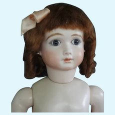 """HC 12.4"""" Mohair wig for Antique or Vintage German or French doll."""