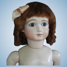 "HC 12.4"" Mohair wig for Antique or Vintage German or French doll."