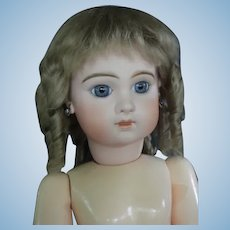 "HC 12.6"" Mohair wig for Antique or Vintage German or French doll."