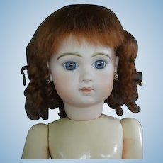 "HC 13"" Mohair wig for Antique or Vintage German or French doll."