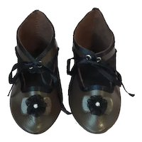 """Leather doll shoes - length 3.39"""" (8.6 cm) One of a kind."""