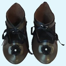 "Leather doll shoes - length 3.39"" (8.6 cm) One of a kind."