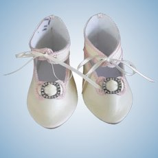 """Leather doll shoes - length 4.14"""" (10.5 cm) One of a kind."""