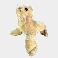 """Large """"Robby"""" Steiff Mohair Seal"""