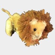 Schuco Noahs Ark Lion Mohair Plush Metal 1950s