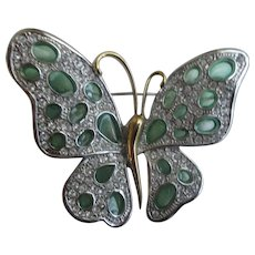 Nolan Miller's Green Cathedral Butterfly Pin