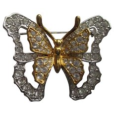 Nolan Miller's Delicate Crystal Butterfly Pin
