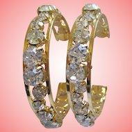 Nolan Miller's Diamonds Are Forever Pierced Hoop Earrings