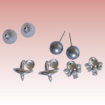 Nolan Miller's Faux Pearl Interchangeable Earrings - Pierced