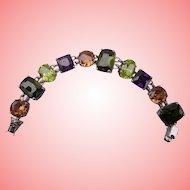 "Nolan Miller's Lincoln Road Faceted Stone Green 7-1/4"" Bracelet"