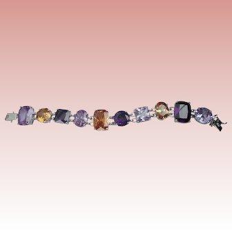 "Nolan Miller's Lincoln Road Faceted Stone Purple 7-1/4"" Bracelet"