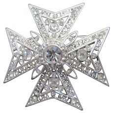Nolan Miller's Maltese Cross Pin