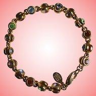 Nolan Miller's Multi-Color Crystal Rolo Bracelet