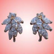 Nolan Miller's Notable Marquise Clip Earrings - Goldtone