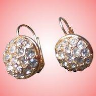 Nolan Miller's Pave' Crystal Pierced Earrings