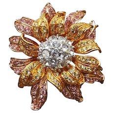 Nolan Miller Picturesque Flower Pin/Brooch