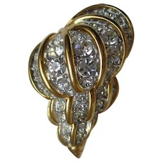 Nolan Miller's Austrian Crystal Shell Pin