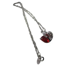 Nolan Miller's Simulated Ruby Heart Necklace