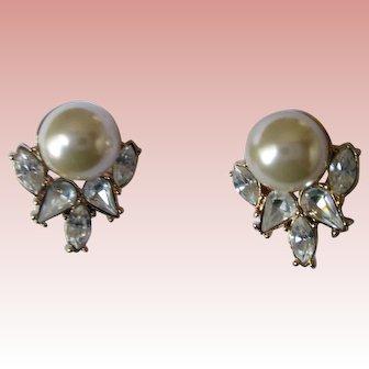 Nolan Miller's Stunning White Pearl Earrings